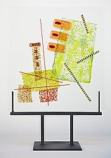 Collage 1 by Richard Altman (Art Glass Sculpture)
