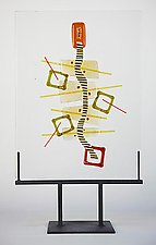 Collage 2 by Richard Altman (Art Glass Sculpture)