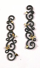 Hinged Wrought Earrings by Natasha Wozniak (Gold & Silver Earrings)