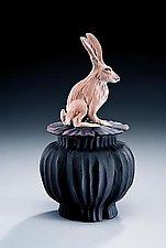 Jack Rabbit Box by Nancy Y. Adams (Ceramic Box)