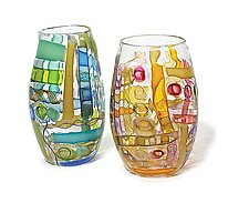 Waterman Vases by Tracy Glover (Art Glass Vase)