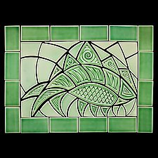 Envy Fish by Lynne Meade (Ceramic Wall Sculpture)