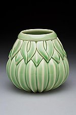 Small Striped Sins Vase by Lynne Meade (Ceramic Vase)