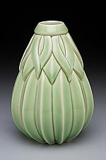 Tall Striped Sins Vase by Lynne Meade (Ceramic Vase)
