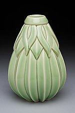 Tall Striped Sins Vase by Lynne Meade (Ceramic Vase)