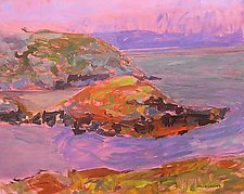 Pink Sky, Lavender Coast by Leonard Moskowitz (Acrylic Painting)
