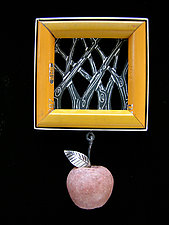 Orchard Brooch by Lisa and Scott  Cylinder (Metal Brooch)