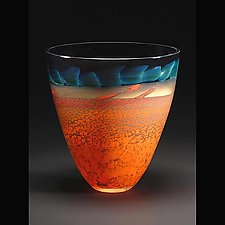 Desert Series Bowl by Steven Main (Art Glass Bowl)
