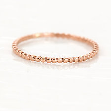 Bead Ring in 14K Rose Gold by Melanie Casey (Gold Ring)