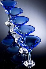 Cobalt Martini Goblet by Laurie Thal (Art Glass Goblet)