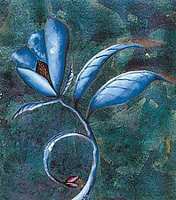 Blue Flower by Rachel Tribble (Giclee Print)