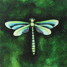Sea Grass Dragonfly by Rachel Tribble (Giclee Print)