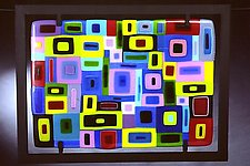 Collage Colors Wall Sculpture by Barbara Galazzo (Art Glass Sculpture)