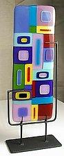 Vertical Freestanding Sculpture by Barbara Galazzo (Art Glass Sculpture)