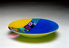 Duo Ribbon Bowl by Barbara Galazzo (Art Glass Bowl)