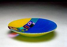 Duo Ribbon Bowl by Barbara Galazzo (Art Glass Bowl)