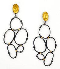 Long Cloud Earrings by Sydney Lynch (Gold & Silver Earrings)