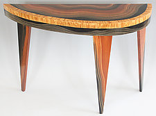 Yucatan French Curve Console by Ingela Noren and Daniel  Grant (Painted Wood Table)