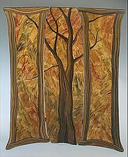 Tree Folding Screen by Ingela Noren and Daniel  Grant (Painted Wood Screen)