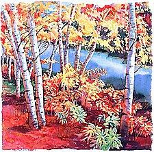 Birches by Marlies Merk Najaka (Pigment Print)