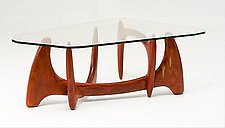Trapezoid Coffee Table by Nathan Hunter (Wood Coffee Table)