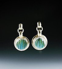 Upsa Daisy Earrings by Amy Faust (Silver & Ceramic Earrings)