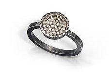 Pavé Diamond Ring by Chihiro Makio (Silver & Stone Ring)