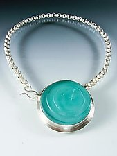 Round Vintage Glass Choker by Amy Faust (Silver & Glass Necklace)