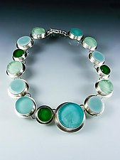 Sea of Circles Necklace by Amy Faust (Silver & Glass Necklace)