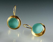 Classica Earrings by Amy Faust (Gold & Glass Earrings)
