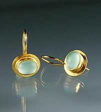 Bella Earrings by Amy Faust (Gold & Glass Earrings)