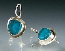 Lume Earrings by Amy Faust (Silver & Glass Earrings)