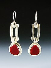 Duplice Earrings by Amy Faust (Silver & Glass Earrings)