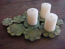 Lotus Leaf Candleholder by Susan Madacsi (Metal Candleholder)