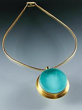 Risplendente Necklace by Amy Faust (Gold & Glass Necklace)