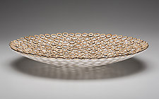 Raindrop Platter by Charissa Brock (Art Glass & Bamboo Platter)