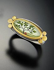 Oval Spring Maple Ring by Ananda Khalsa (Gold Ring)