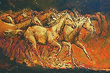 Stampede through Time by Ritch Gaiti (Oil Painting)