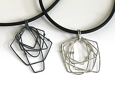 Cosmos Necklace #9 by Jennifer Bauser (Silver Necklace)