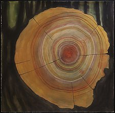 Tree Rings by Diana Arcadipone (Watercolor Painting)