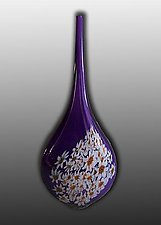 Hyacinth Tear Drop by Paul Lockwood (Art Glass Vessel)