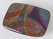 Rainbow Belt Buckle by Renato Foti (Art Glass Belt Buckle)