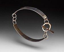 Toggle Bracelet by Peg Fetter (Gold & Steel Bracelet)