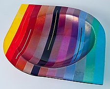Rainbow Vessel by Renato Foti (Art Glass Bowl)