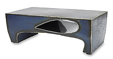 Blue Drop Coffee Table by Ben Gatski and Kate Gatski (Metal Coffee Table)