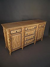 Carved Sideboard by John Wesley Williams (Wood Sideboard)