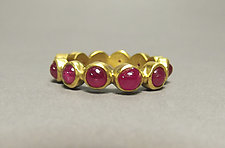 Ruby Band by Eva Seid (Gold & Stone Ring)