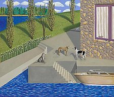 Water and Steps by Jane Troup (Giclee Print)