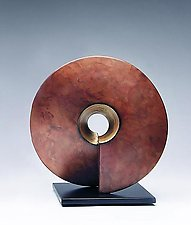 Copper Coil by Cheryl Williams (Ceramic Sculpture)