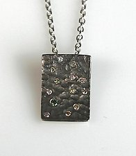 Pebble Pendant by Gillian Batcher (Silver & Diamond Pendant)
